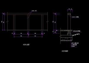 木质详细的栏杆素材cad施工图