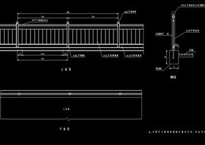 不锈钢栏杆素材cad施工图