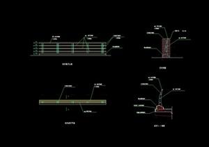 详细的完整栏杆素材cad施工图