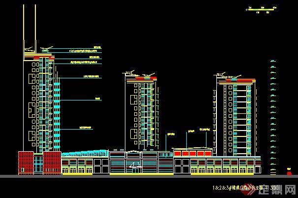 地基商住楼建筑设计及v地基平面4米宽11米长高层设计图图片