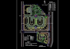 某市场整体绿化规划cad方案图
