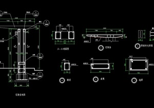 现代花架详细完整设计cad施工图