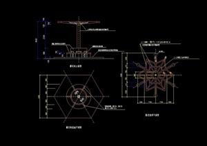 园林景观详细的花架设计cad施工图