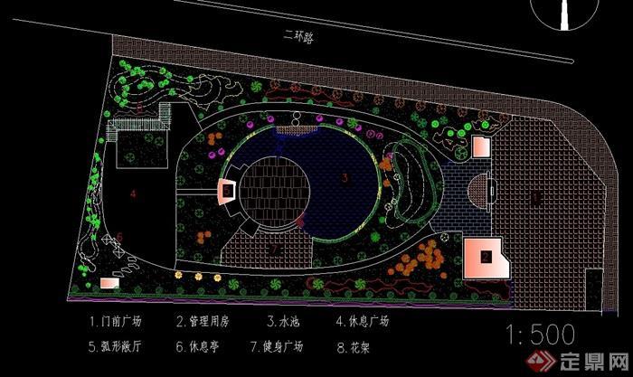 小型公园设计cad平面图