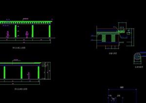 现代弧形廊设计cad方案