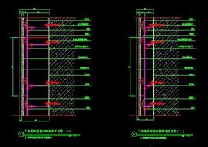干挂瓷砖标准节点图