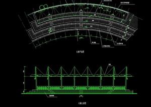 现代景观长廊设计cad方案