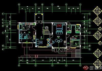 欧式风格二层别墅装修施工图