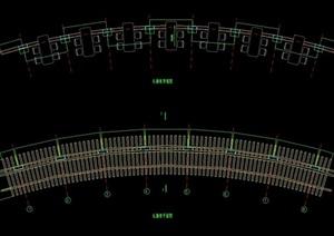 现代弧形廊cad施工图