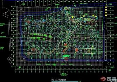 某整体详细的住宅小区规划设计cad施工图