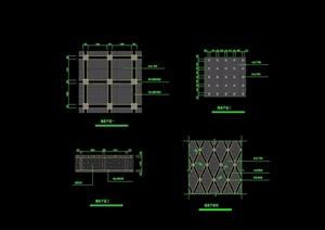 四种不同的铺装cad施工图