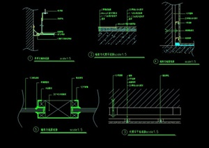 墙体与地面连接节点素材设计cad施工图