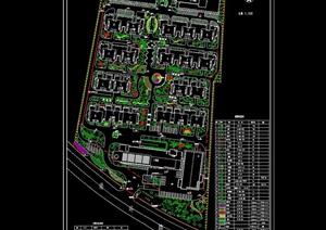 详细的住宅小区景观总平面图