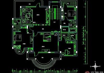 某三层别墅豪华家装设计图纸