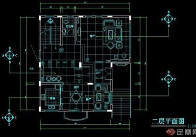 三层住宅别墅装修设计图纸
