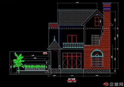 欧式自建房别墅建筑方案图