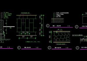 详细的完整园路设计cad施工图