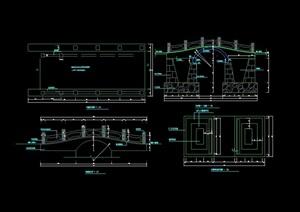 园林景观详细的石拱桥设计cad施工图