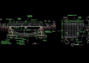 详细的精致景桥素材cad施工图