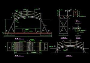 详细的景观过河桥设计cad施工图