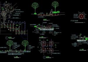 详细的园林景观小平桥设计cad施工图