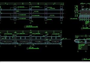 精致详细的完整木桥设计cad施工图