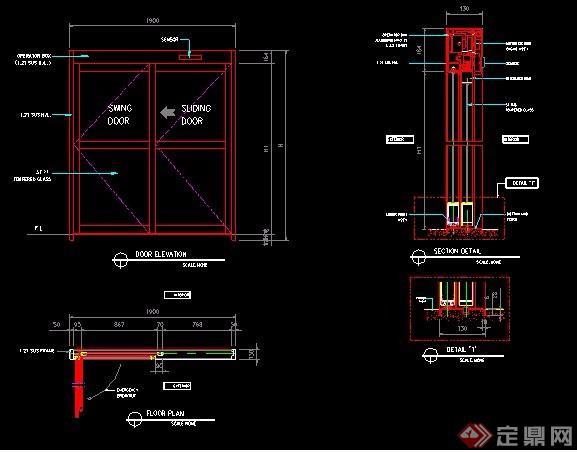 别墅装修门扇设计图