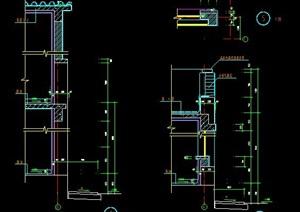 别墅建筑墙体节点图纸