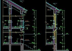 二层中式自建房墙体节点图纸