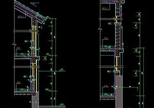 中式二层自建房建筑墙体节点图