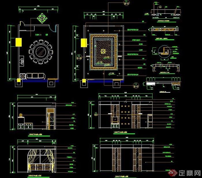 餐厅包间室内设计详图