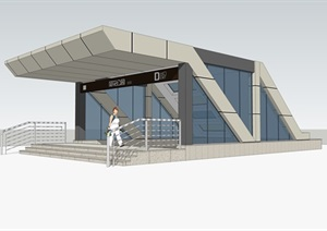地铁出入口SU(草图大师)模型