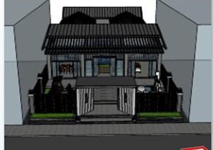 自建民宿+景观设计+模型完整