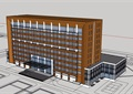 现代多层自主办公楼建筑楼设计su模型