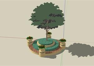 特色种植树池设计SU(草图大师)模型
