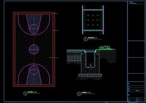 籃球場設計cad方案圖
