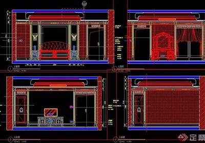 欧式风格卧室装修设计立面图