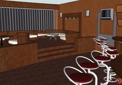 详细的整体餐饮空间详细设计su模型