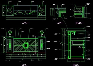 商业空间服务台设计图纸