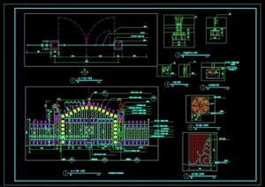 主入口铁艺门CAD施工图