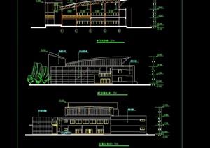 一中学两层详细食堂建筑设计cad施工图