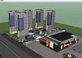 现代风格完整的商业住宅楼su模型