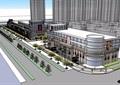 某商业街多层详细建筑楼设计su模型