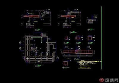 详细的观景平台素材cad施工图