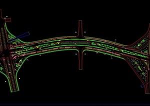 某详细完整的大道景观绿化设计cad方案图