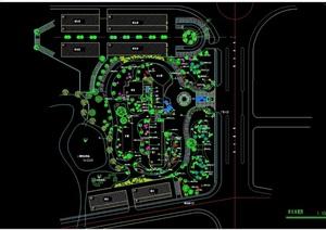 某详细的住宅中庭景观设计cad方案图