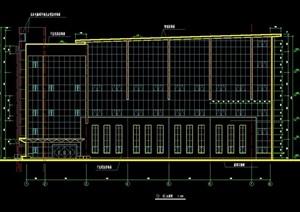 详细的体育馆建筑cad施工全套图