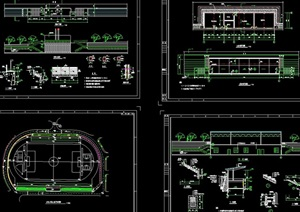 某详细的体育场cad全套施工图