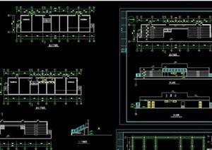 体育场看台详细建筑cad施工图