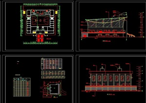 详细的多层体艺馆建筑设计cad施工图